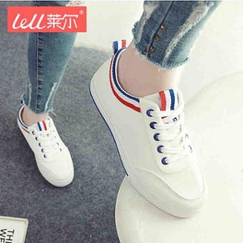 女鞋夏季鞋子2017新款百搭韩版平底学生白鞋女帆布鞋小白鞋女透气