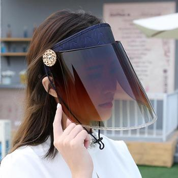 夏季骑车遮阳帽夏天防紫外线女士太阳帽骑电动车防晒时尚帽子空顶