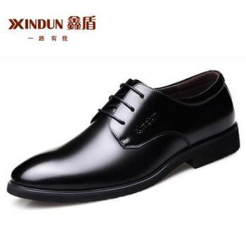 新款男士皮鞋男鞋青年商务英伦黑色休闲真皮透气正装鞋子男