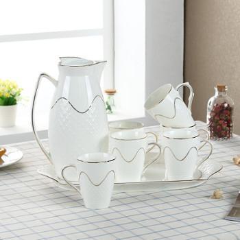 DC家用水具套装陶瓷茶杯冷水壶套装耐高温杯子套装家用客厅水杯具