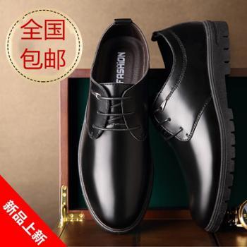 男士皮鞋秋季新款男鞋英伦商务正装尖头休闲黑色爸爸鞋子男潮