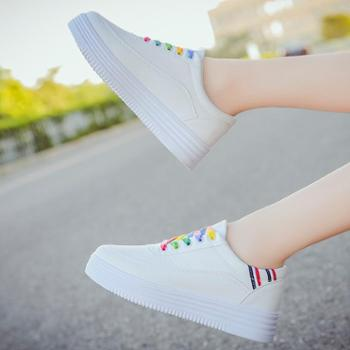 小白鞋女秋季新款潮学生韩版百搭厚底板鞋休闲春季女鞋子