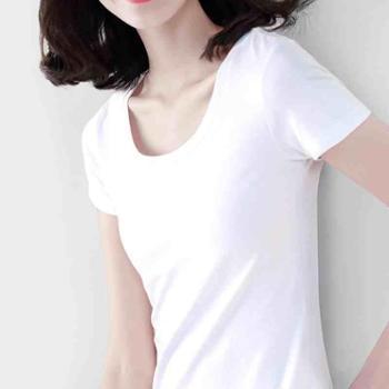 短袖t恤女新款纯色潮打底修身短款百搭ins韩版港味风半袖