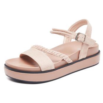 凉鞋女仙女风超火夏鞋子百搭厚底ins潮平底夏季女鞋