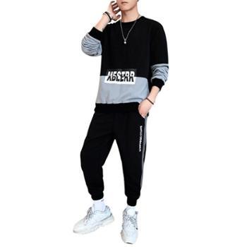 运动套装男潮流跑步运动服长袖T恤休闲两件套KXPY110+K110