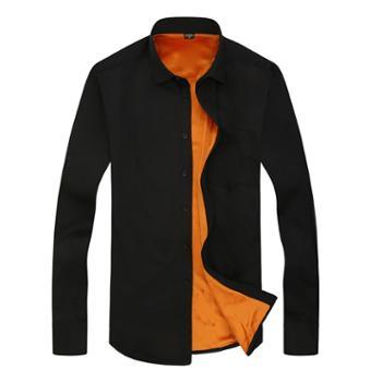 秋季衬衫男上衣长袖商务休闲保暖加绒衬衣潮SY18511