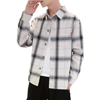 男装保暖衬衫男加厚冬格子长袖休闲加绒衬衣JCG06-S