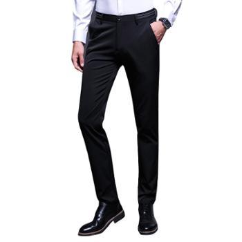 花花公子休闲秋修身长裤加绒加厚裤子韩版商务男西裤ZY9858
