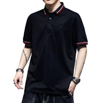 翻领POLO衫男士短袖T恤中青年上衣服SYPB8901