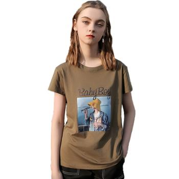 女士休闲短袖T恤FNMST22-608