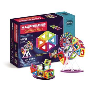 麦格弗Magformers磁力积木儿童益智玩具磁力片嘉年华套组46片63074