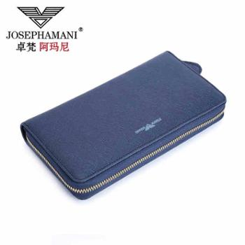 新款卓梵 阿玛尼男士手包牛皮手拿包男包长款钱包手抓包