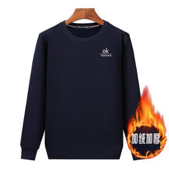 Aeroline秋冬新款T恤长袖休闲厚款宽松保暖套头卫衣012款