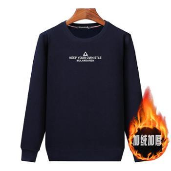 Aeroline秋冬新款T恤长袖休闲厚款宽松保暖套头卫衣013款