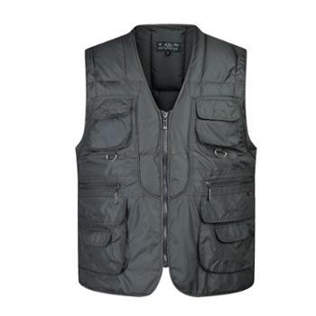 Aeroline冬季男式舒适中老年爸爸装时尚户外休闲多口袋棉马甲