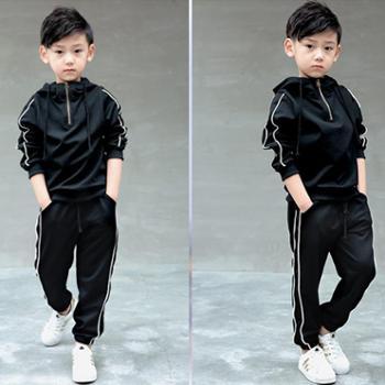 Aeroline童装男童新款套装韩版潮中大童运动装儿童休闲春秋两件套