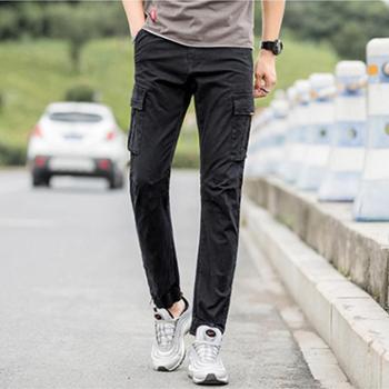 Aeroline工装裤男潮牌ins裤子男韩版潮流休闲裤男直筒修身长裤男