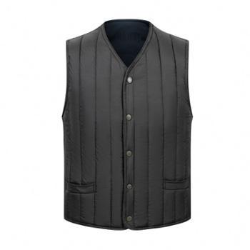 Aeroline男式中老年爸爸装加绒加厚户外休闲保暖舒适马甲外套
