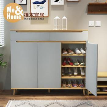 鞋柜简约现代门厅柜多功能阳台储物柜门口鞋柜玄关柜
