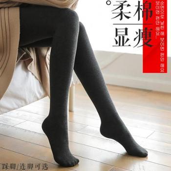 女袜女袜子袜子连裤袜春秋季丝袜女薄款灰黑色加绒加厚冬中厚踩脚韩版外穿打底裤生活用品美妆
