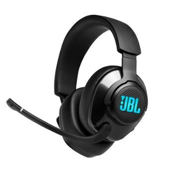 JBL 手机电脑有线耳麦带麦克风 头戴式耳机 7.1环绕声 QUANTUM400 炫彩灯效