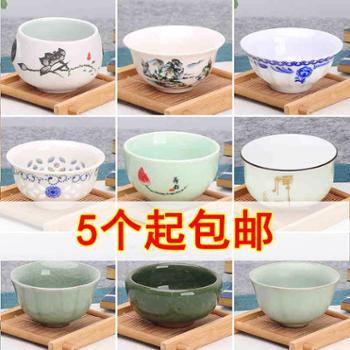 【5个起发货】豹霖陶瓷功夫小茶杯茶具