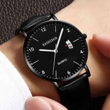 正品新款手表男卡诗顿手表超薄防水运动夜光学生石英男表
