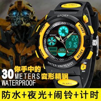 古腾手表夜光防水表电子表