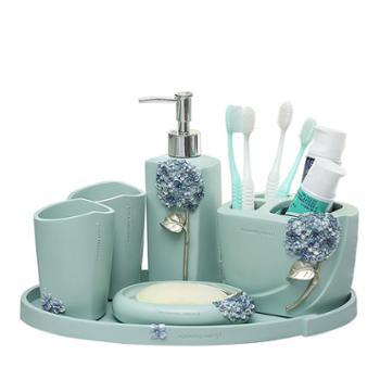 那澜多好卫浴六件套用品套件牙具漱口杯洗漱套装