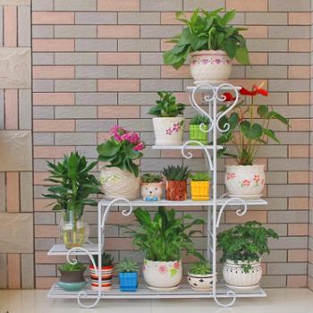 花架子多层室内阳台置物架铁艺多肉客厅省空间花盆落地式绿萝