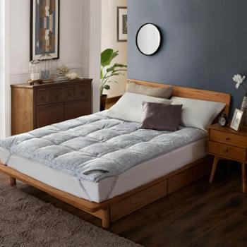 博洋家纺冬季保暖床垫床褥皇冠花园鹅毛床垫