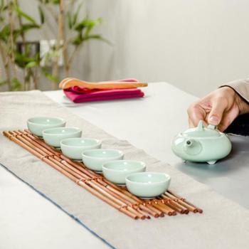 生活用品 青瓷陶瓷功夫茶具一壶六杯陶瓷套装