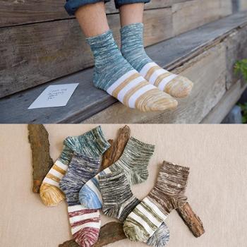 生活用品5双装夏季薄款民族风粗线条新款男士隐形袜
