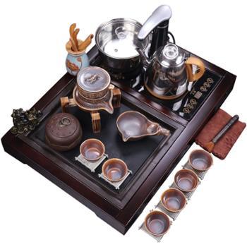 四方盘功夫茶具套装+烧水壶