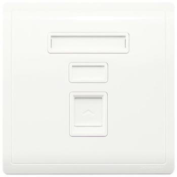 施耐德(Schneider)开关插座电脑信息网线网络插座面板丰尚系列白色