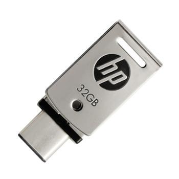 惠普/HP x5000m手机电脑两用U盘3 USB3.1和TypeC双接口高速金属旋转U盘