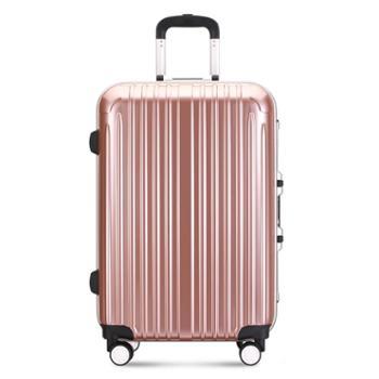 凌秀/president pj-8129拉杆箱万向轮男女铝框旅行箱密码皮箱行李箱