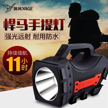 雅格 led强光手电筒 悍马5W充电式远射探照灯 户外照明防水打猎灯