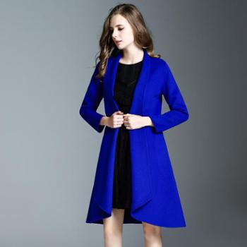 AVYON秋冬季新款呢子大衣外套双面羊绒大衣女修身高端呢子外套