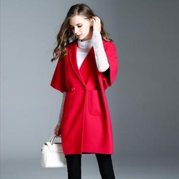 AVYON双面呢大衣羊绒大衣宽松秋冬新款毛呢外套女