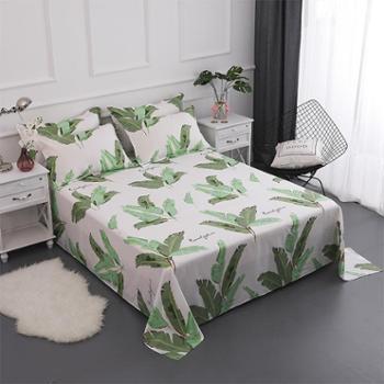 oukk欧康家纺床单单件纯棉床单北欧风全棉斜纹床单学生宿舍单床单1.5m/1.8m床