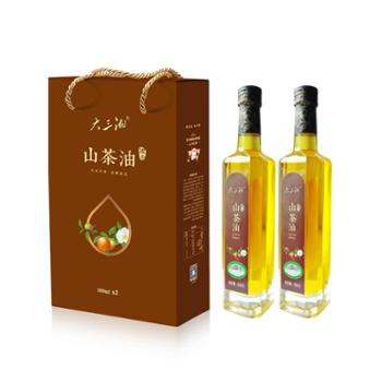 大三湘浓香山茶油纯天然茶籽油低温压榨茶油节日礼盒500ml*2
