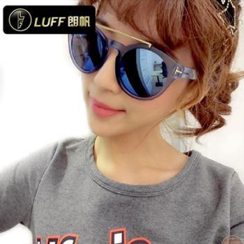 朗帆新款时尚女士大框太阳镜优雅大方气质遮阳墨镜1440