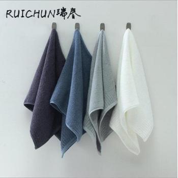 瑞春四条装纯棉32股纯色毛巾组合套装