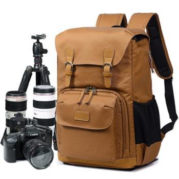 七色棉新款双肩摄影背包单反数码包防水帆布男士背包相机内胆包279