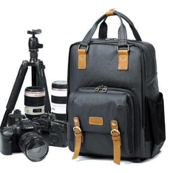 七色棉新款简约专业防盗防水双肩摄影包单反数码相机包双肩包背包272#