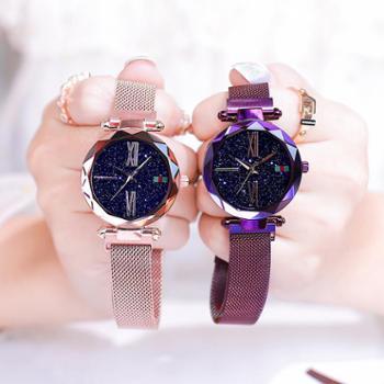 时尚潮流简约大方学生防水满天星女士新款星空手表