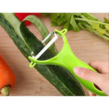 不锈钢水果削皮刀 切水果小刀两件套厨房水果蔬菜小工具