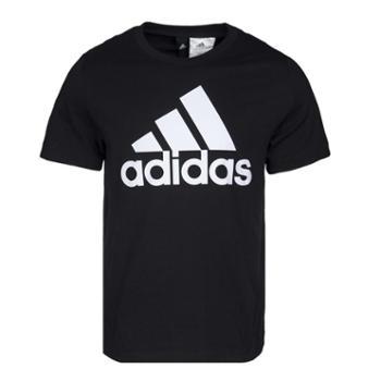 阿迪达斯AdidasESSLINEARTEE运动型格男短袖T恤CD4864