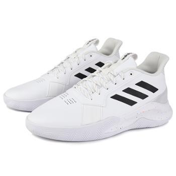 Adidas阿迪达斯男鞋冬季运动鞋缓震耐磨高帮白色篮球鞋EE9655
